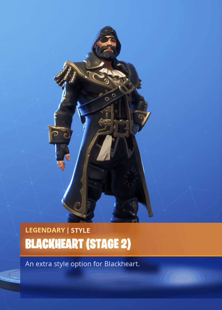 Fortnite Blackheart skin stage 2 season 8 battle pass