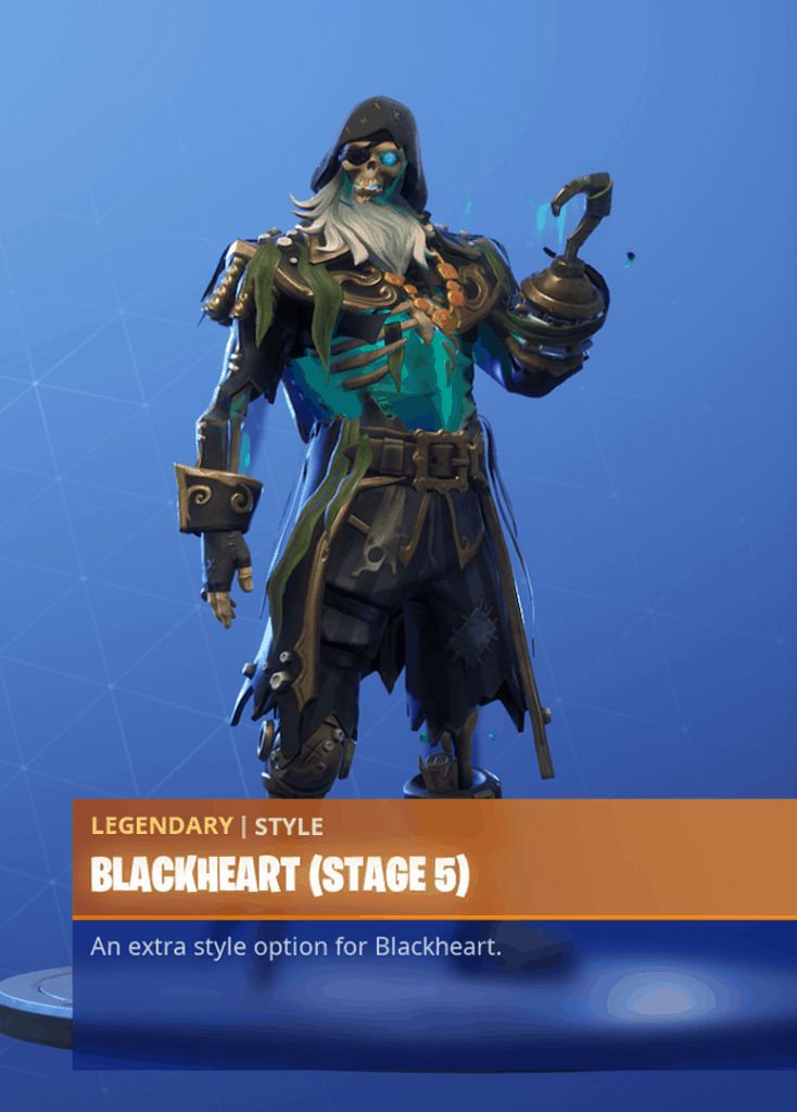 Fortnite Blackheart skin stage 5 season 8 battle pass