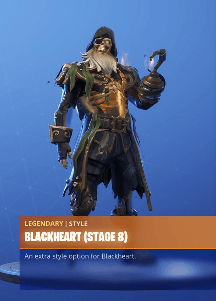 Fortnite Blackheart skin stage 8 season 8 battle pass