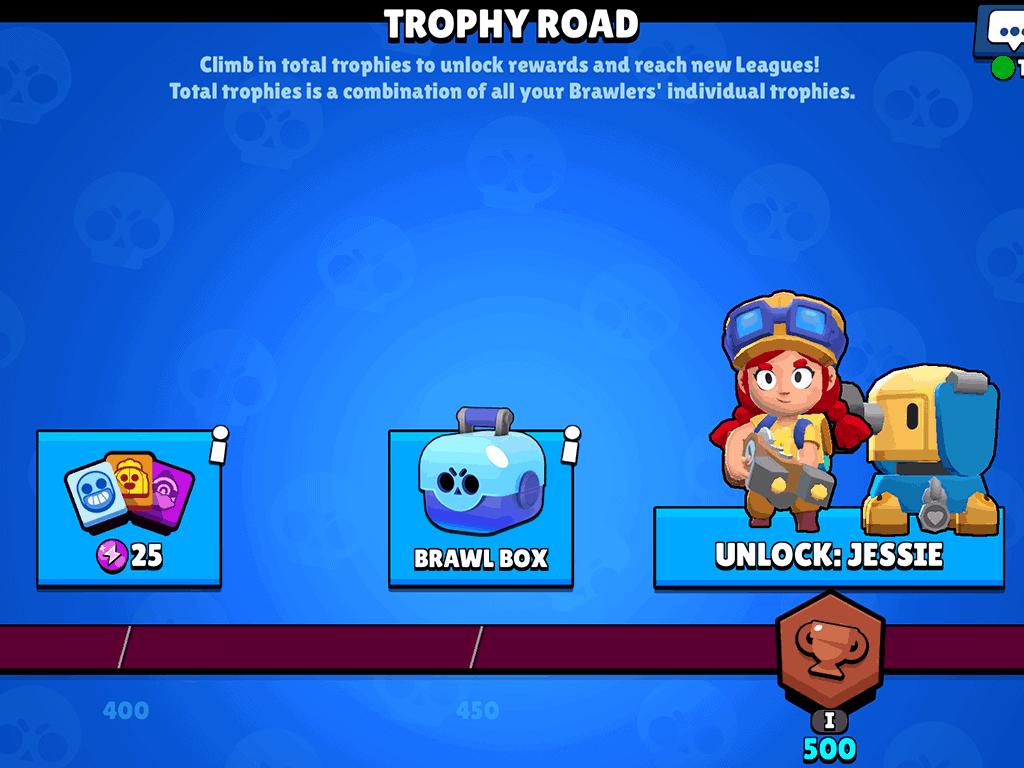 Brawl Box reward in the trophy road Brawl Stars