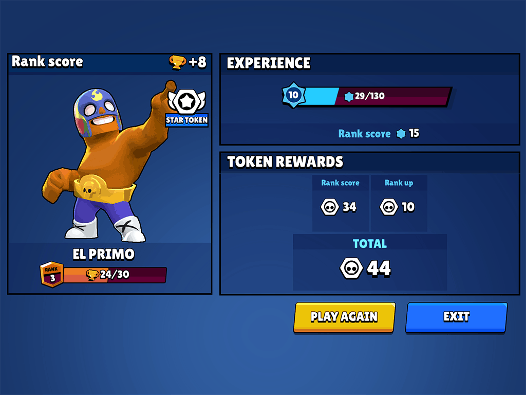 Brawl Stars tokens earned from game