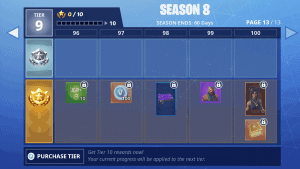 All Battle Pass Rewards List – Fortnite Season 8
