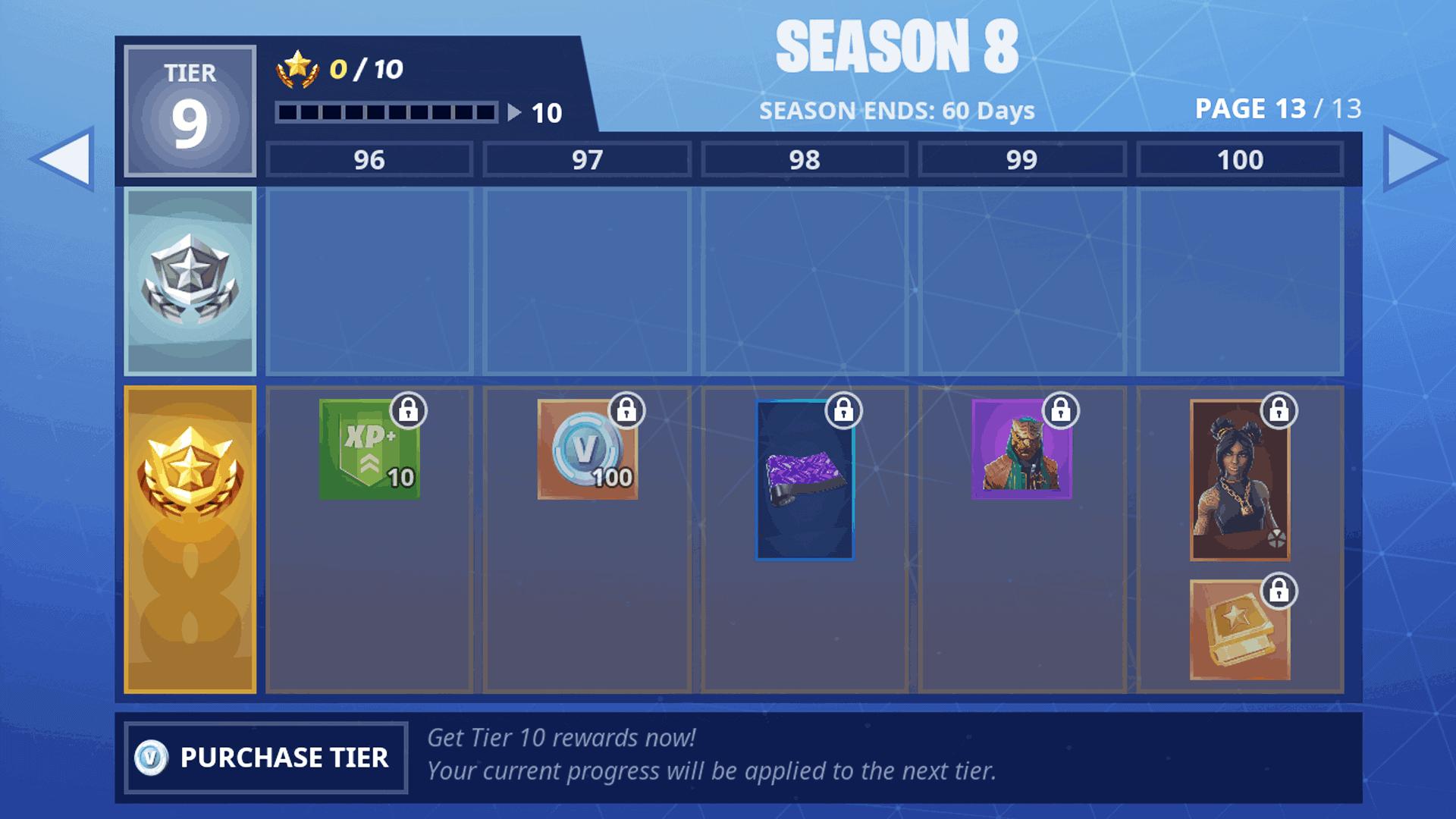 All Battle Pass Rewards List – Fortnite Season 8