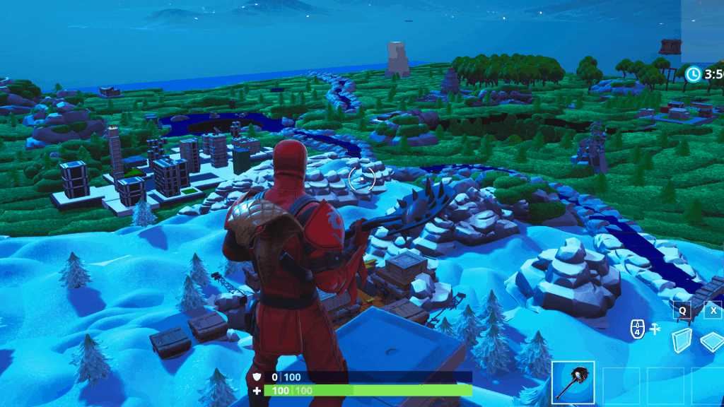 Fortnite tiny version of the map in creative mode