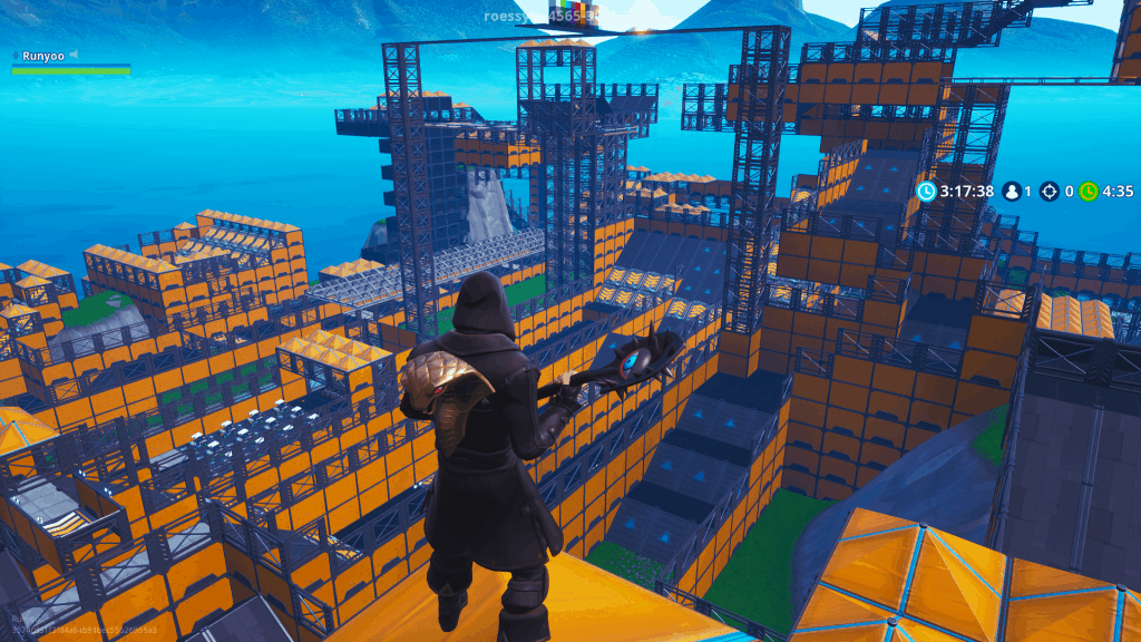 Megatrack survival race map code Fortnite creative mode