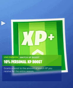 Tier 17 10% personal XP boost