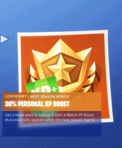 Tier 2 30% personal XP boost