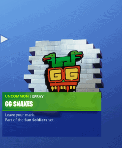Tier 2 GG Snakes Spray