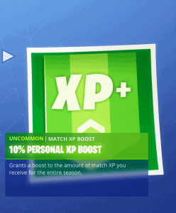 Tier 49 10% personal XP boost
