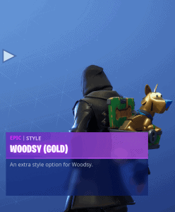 Tier 83 Woodsy (Gold) back bling