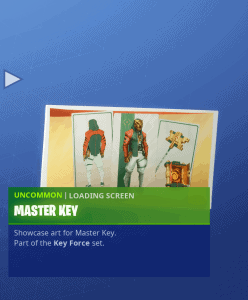 Tier 84 Master Key loading screen