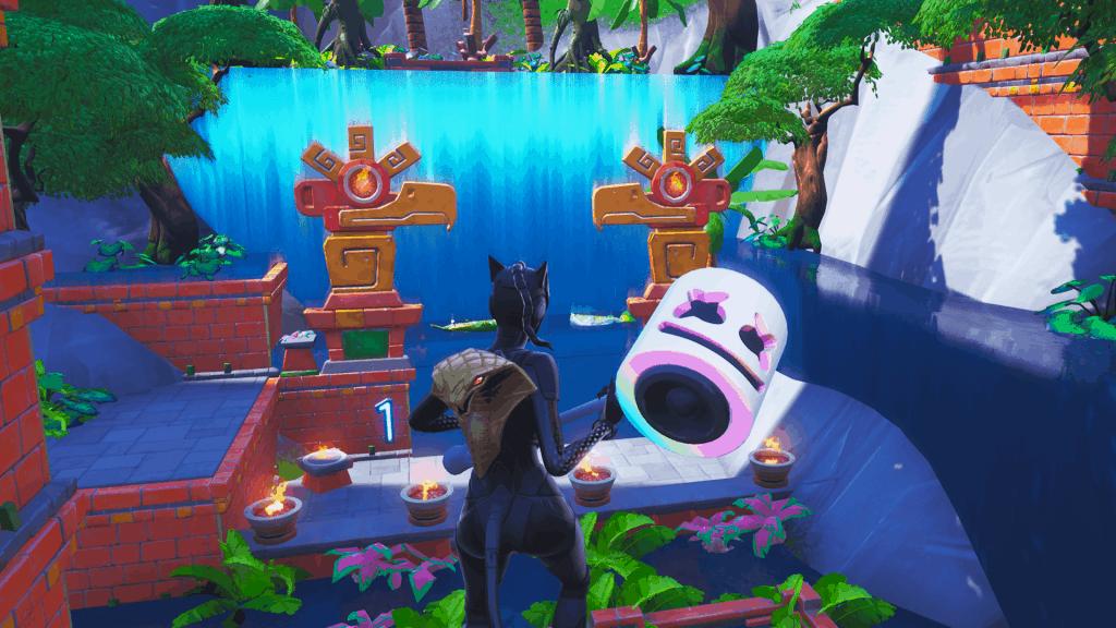 Waterfall Escape map code Fortnite creative mode