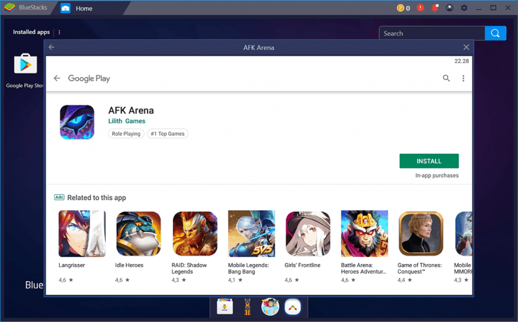 AFK Arena pc download window BlueStacks