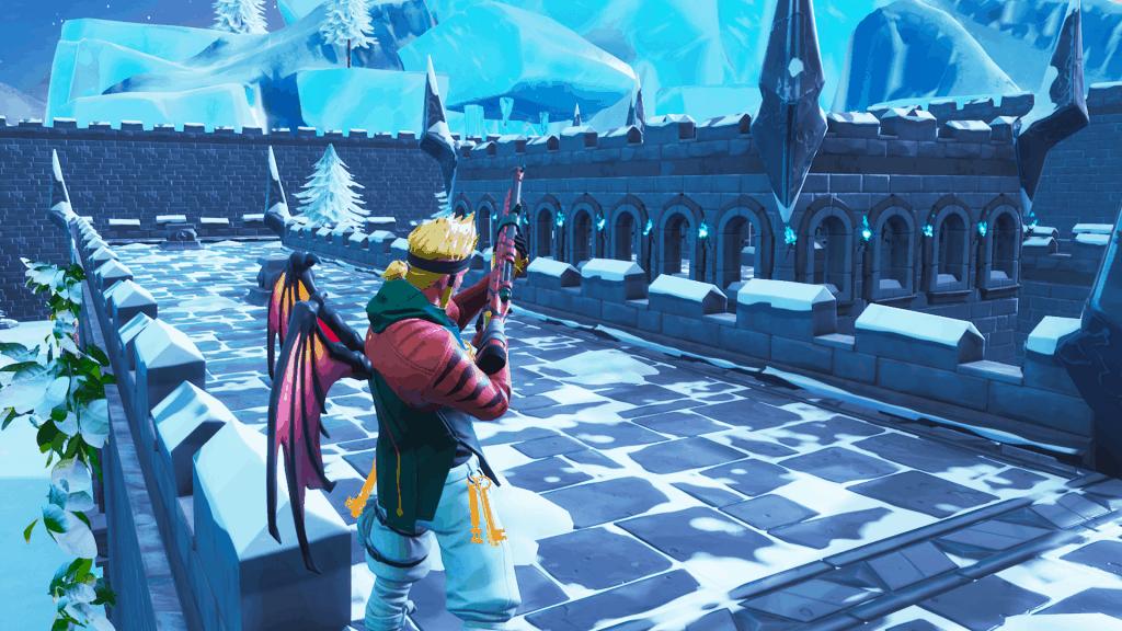 Aim Snowy Castle map code Fortnite