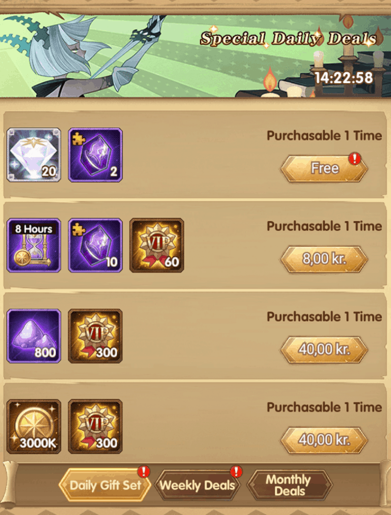 Daily gift AFK Arena