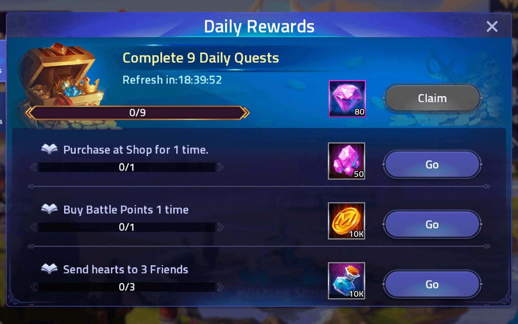 Buy Battle Points Quest – Mobile Legends: Adventure