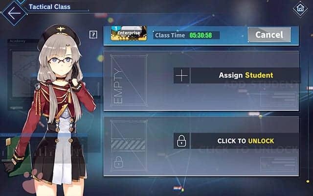 Azur Lane unlock third slot in Tactical Class Academy