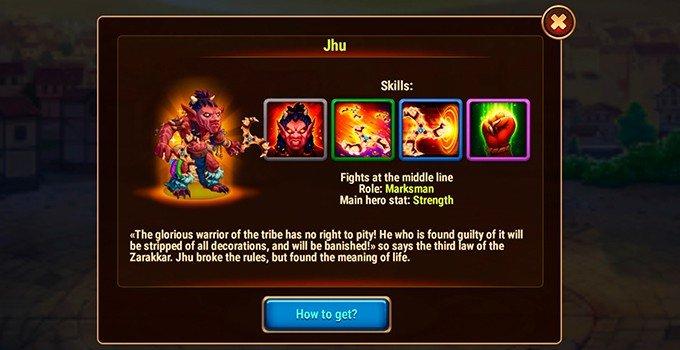 Hero Wars Jhu hero