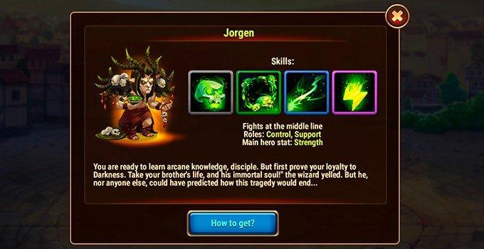 Hero Wars Jorgen hero