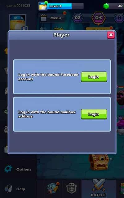 Taptap Heroes account login