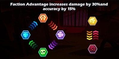 Taptap Heroes faction advantages