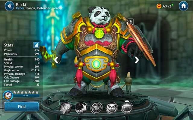 Dragon Champions Kin Li hero