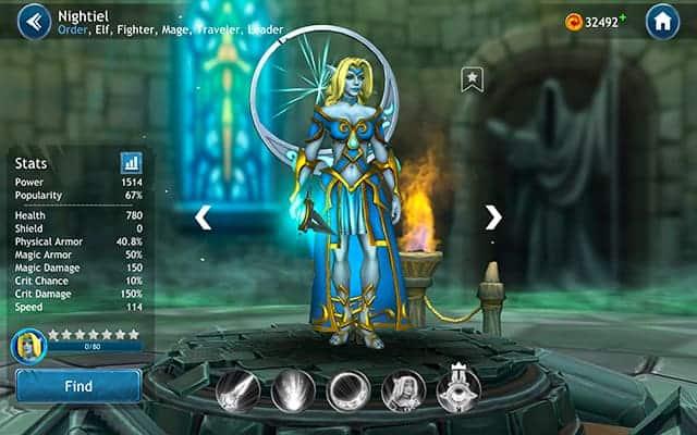 Dragon Champions Nightiel hero
