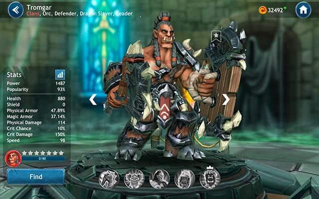 Dragon Champions Tromgar hero