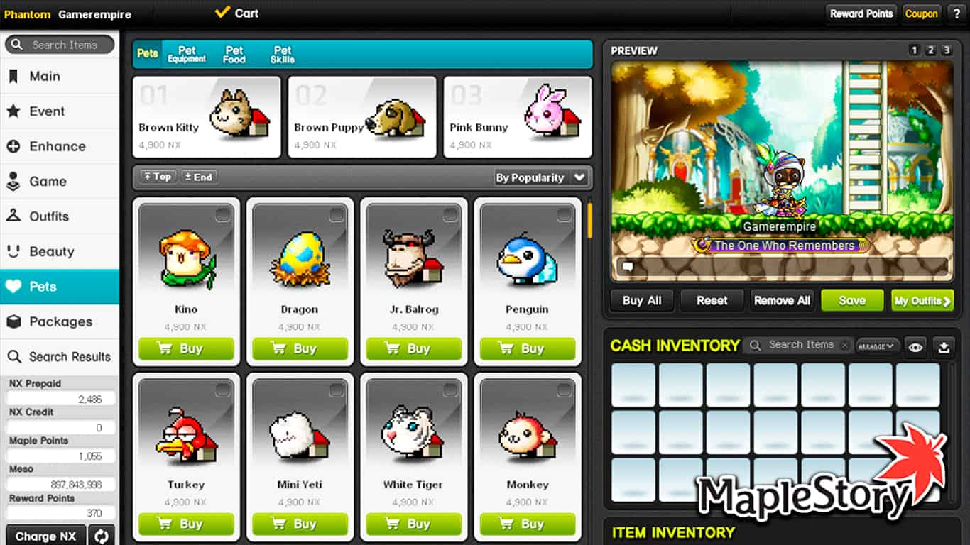 Maplestory – Are Cash Items Permanent?
