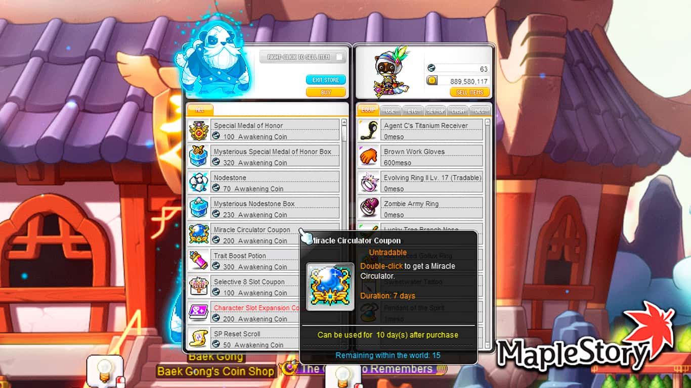 You are currently viewing Maplestory – How To Get Honor EXP & Miracle Circulators
