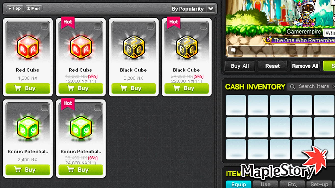 Maplestory – Miracle Cubes Tier Up Rates