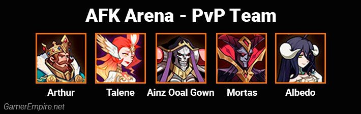 AFK Arena Best Team For PvP Ainz and Mortas Comp