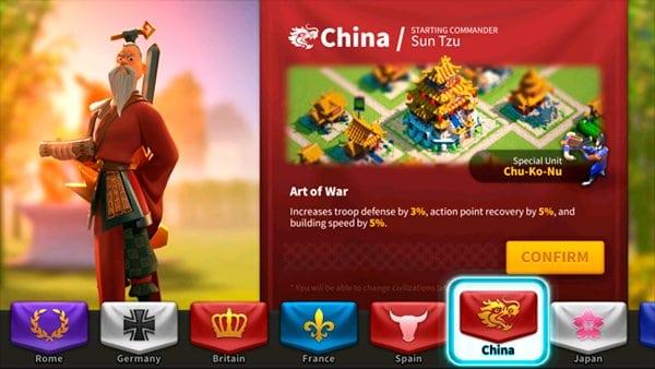 Rise of Kingdoms China Civilization