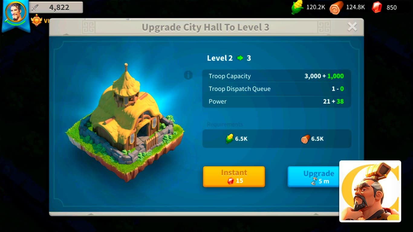 Rise of Kingdoms – City Hall Guide: Upgrade Requirements & Rewards