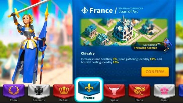 Rise of Kingdoms France Civilization