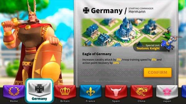 Rise of Kingdoms Germany Civilization