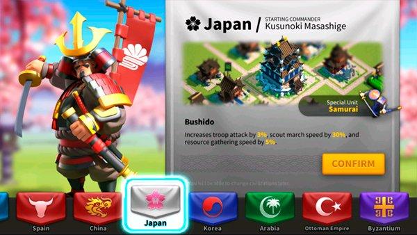 Rise of Kingdoms Japan Civilization
