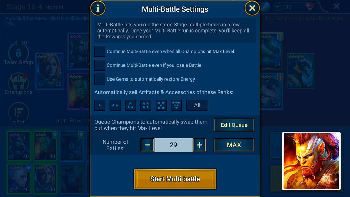RAID: Shadow Legends – How To Get More Multi-Battle Attempts