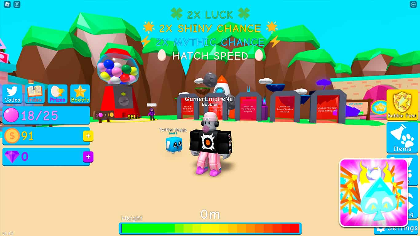 Read more about the article Bubble Gum Simulator (Roblox) – Codes List (October 2021) & How To Redeem Codes